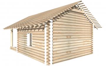 СТ-15 - Сруб 6х6 для дома или бани из бревна: цена от производителя (Киров)