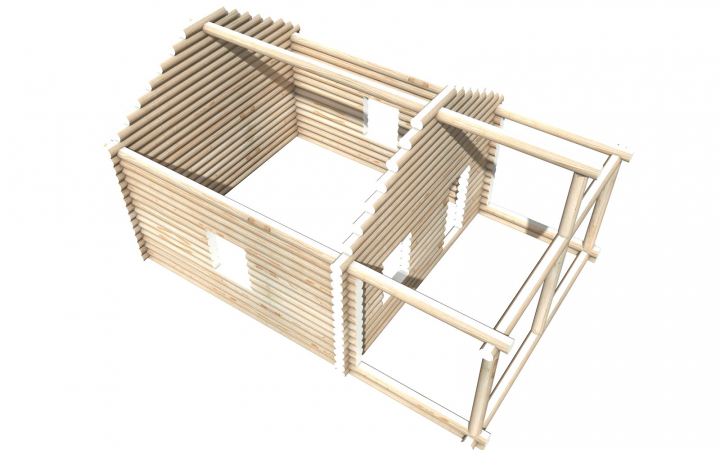 Рубленный сруб СТ-15 бани 6х6 или дома из бревна
