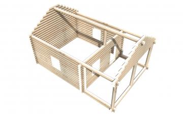 Рубленный сруб СТ-16 бани 6х6 или дома из бревна