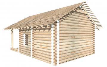 СТ-17 - Сруб 6х6 для дома или бани из бревна: цена от производителя (Киров)