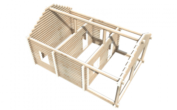 Рубленный сруб СТ-17 бани 6х6 или дома из бревна