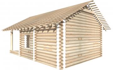 СТ-18 - Сруб 6х6 для дома или бани из бревна: цена от производителя (Киров)