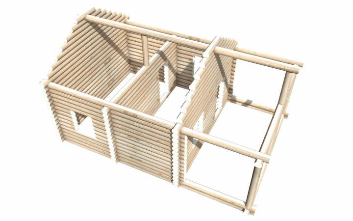 Рубленный сруб СТ-18 бани 6х6 или дома из бревна