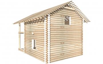 СТ-19 - Сруб 6х6 для дома или бани из бревна: цена от производителя (Киров)