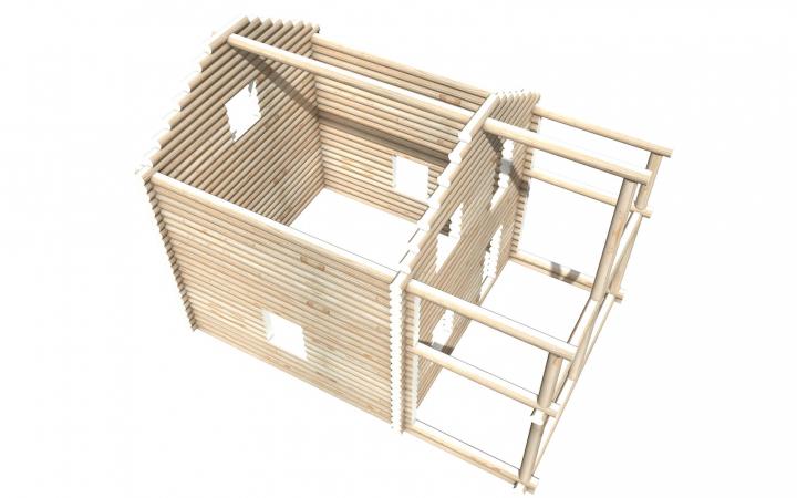 Рубленный сруб СТ-19 бани 6х6 или дома из бревна