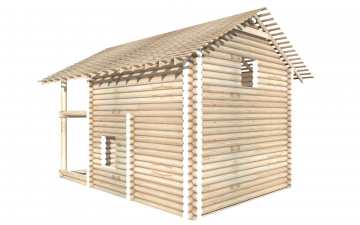 СТ-20 - Сруб 6х6 для дома или бани из бревна: цена от производителя (Киров)