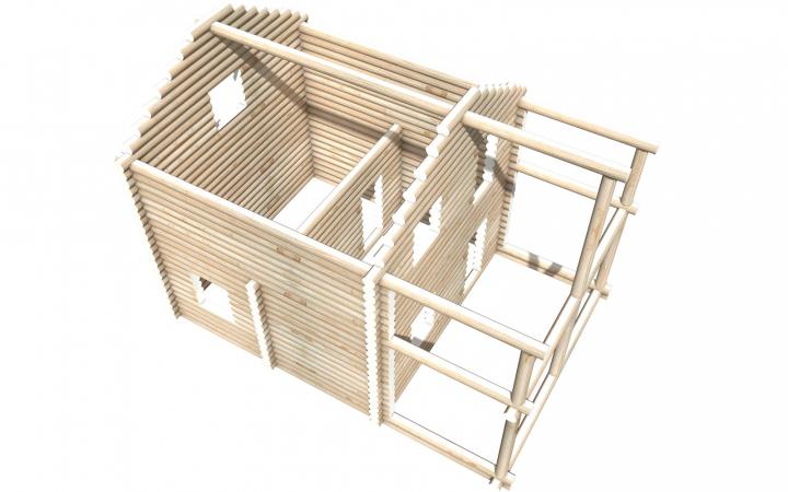 Рубленный сруб СТ-20 бани 6х6 или дома из бревна