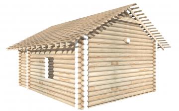 СТ-25 - Сруб 6х8 для дома или бани из бревна: цена от производителя (Киров)