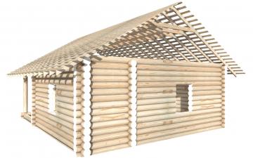 СТ-27 - Сруб 6х8 для дома или бани из бревна: цена от производителя (Киров)