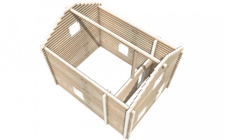 Рубленный сруб СТ-31 бани 6х8 или дома из бревна