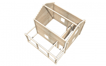 Рубленный сруб СТ-32 бани 6х8 или дома из бревна