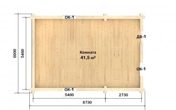 Планировка сруба СТ-35 6х9 из бревна