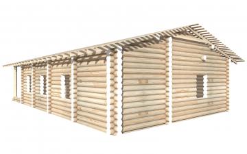 СТ-65 - Сруб 9х9 для дома или бани из бревна: цена от производителя (Киров)