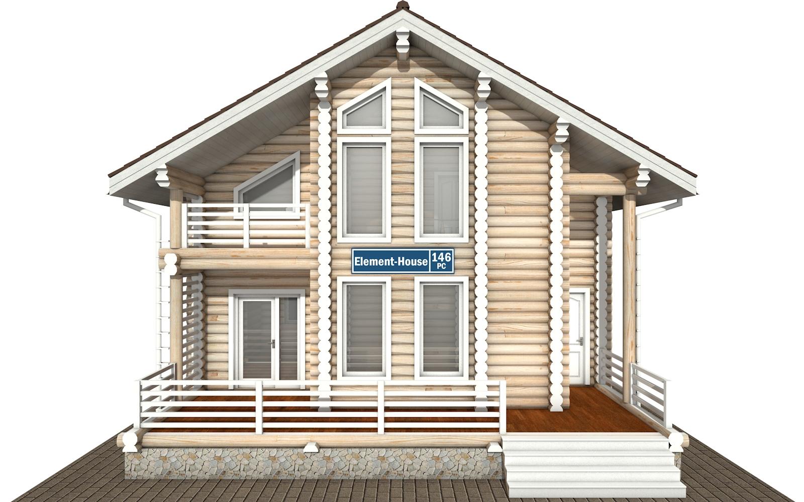 Фото #6: Красивый деревянный дом РС-146 из бревна