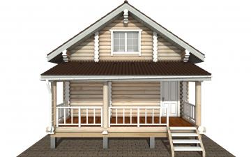 Фото #7: Красивый деревянный дом РС-150 из бревна