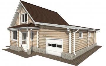 Фото #1: Красивый деревянный дом РС-151 из бревна