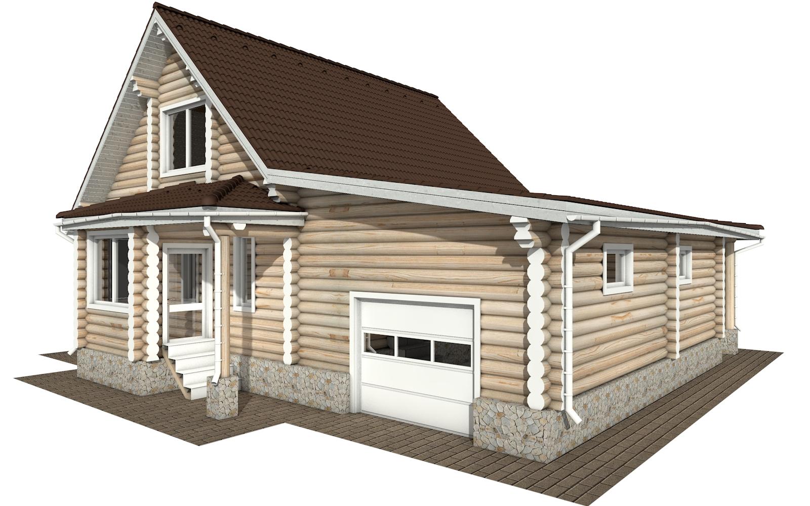РС-151 - деревянный дома из бревна (из сруба)