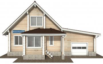 Фото #7: Красивый деревянный дом РС-151 из бревна
