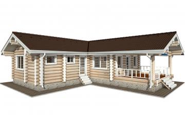 Фото #1: Красивый деревянный дом РС-152 из бревна