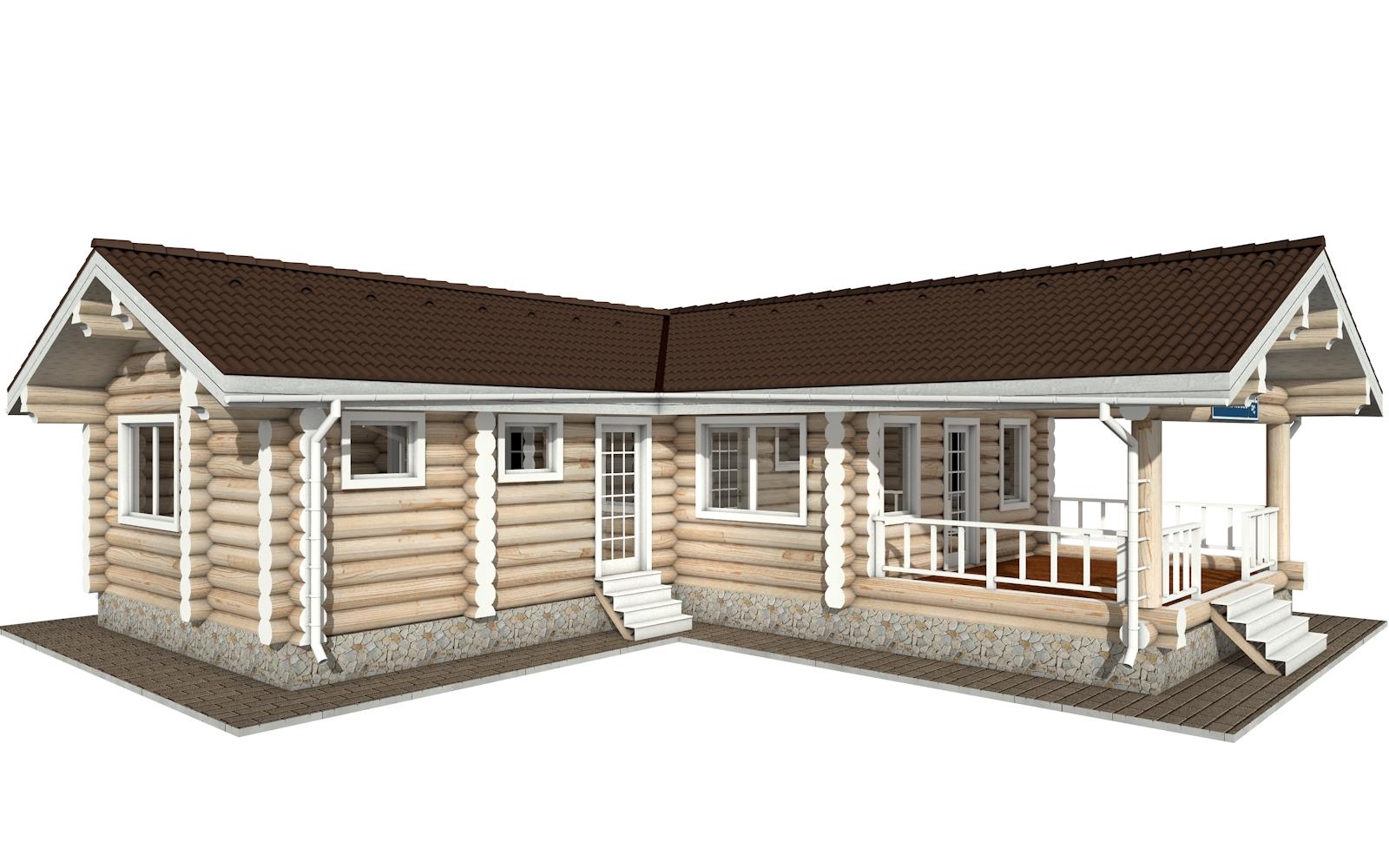 РС-152 - деревянный дома из бревна (из сруба)