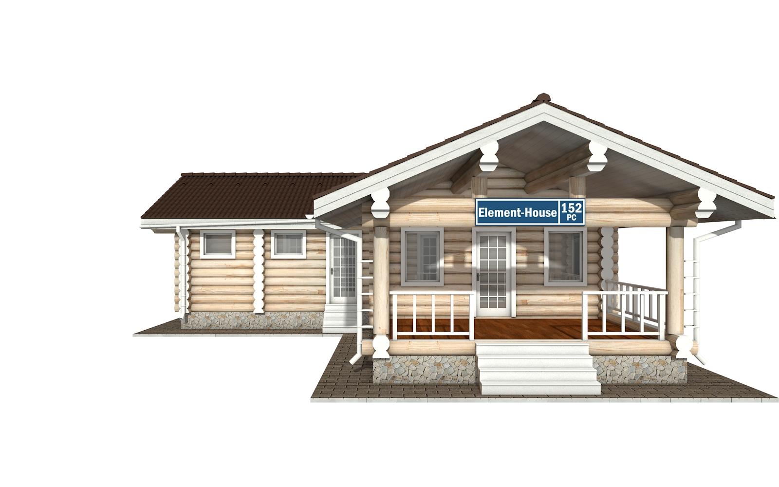 Фото #6: Красивый деревянный дом РС-152 из бревна