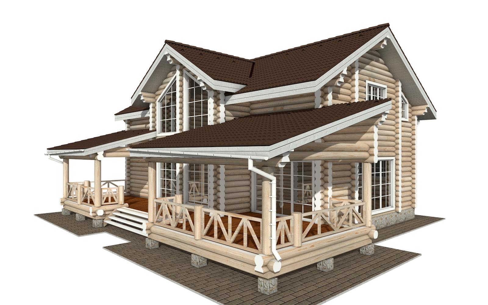 РС-154 - деревянный дома из бревна (из сруба)