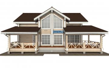 Фото #7: Красивый деревянный дом РС-154 из бревна