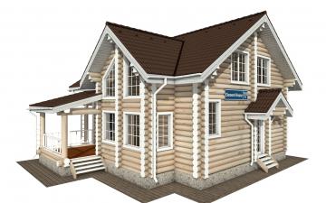 Фото #1: Красивый деревянный дом РС-155 из бревна