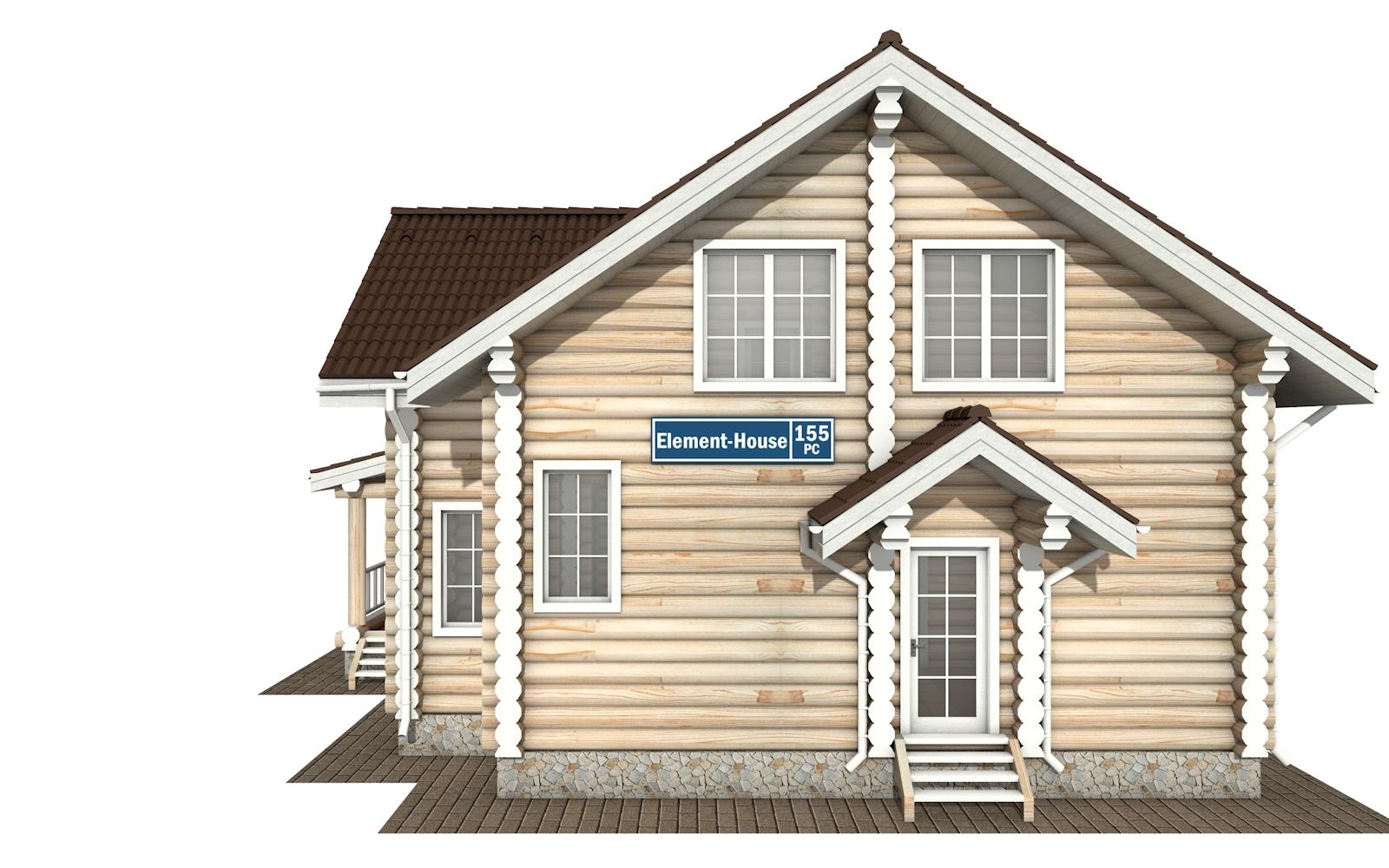 Фото #7: Красивый деревянный дом РС-155 из бревна
