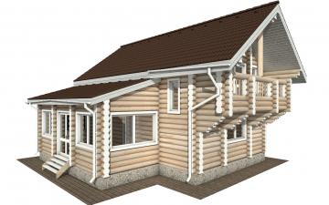 Фото #1: Красивый деревянный дом РС-156 из бревна
