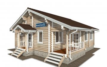 Фото #1: Красивый деревянный дом РС-157 из бревна