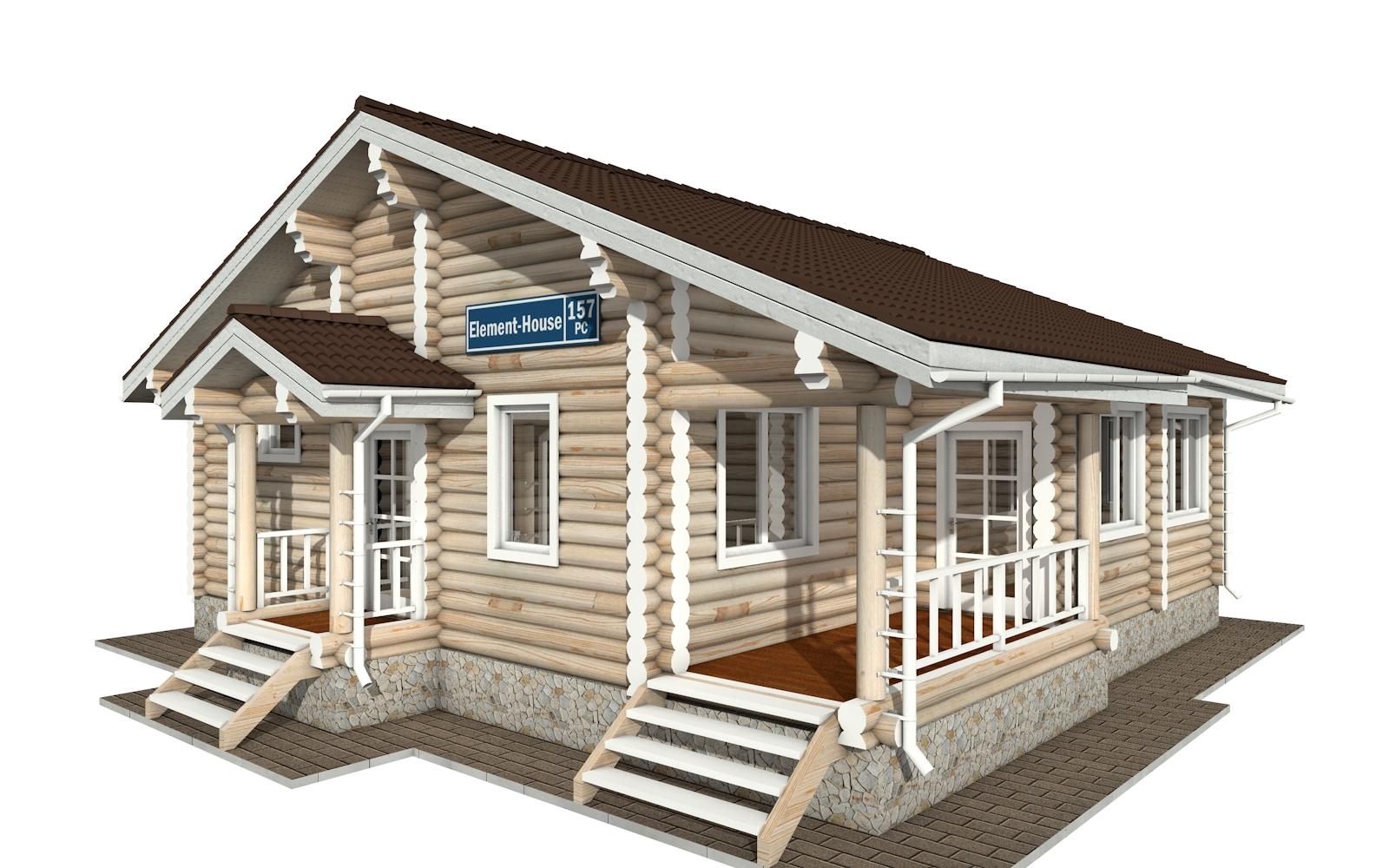 РС-157 - деревянный дома из бревна (из сруба)