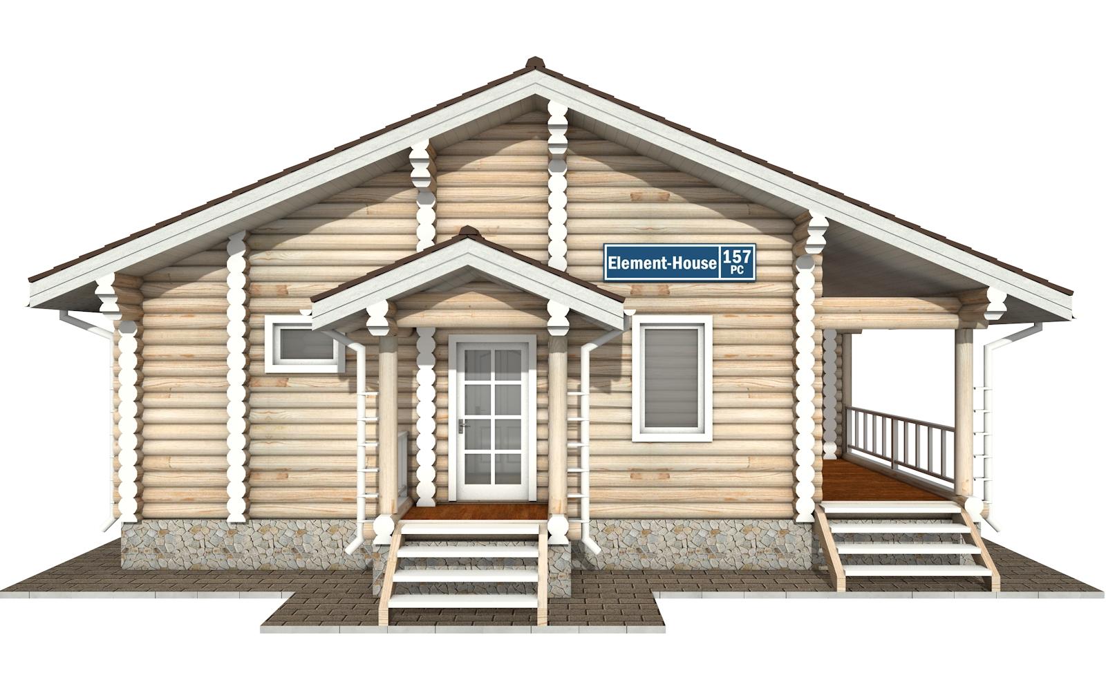 Фото #6: Красивый деревянный дом РС-157 из бревна