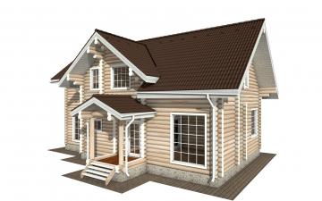 Фото #1: Красивый деревянный дом РС-158 из бревна