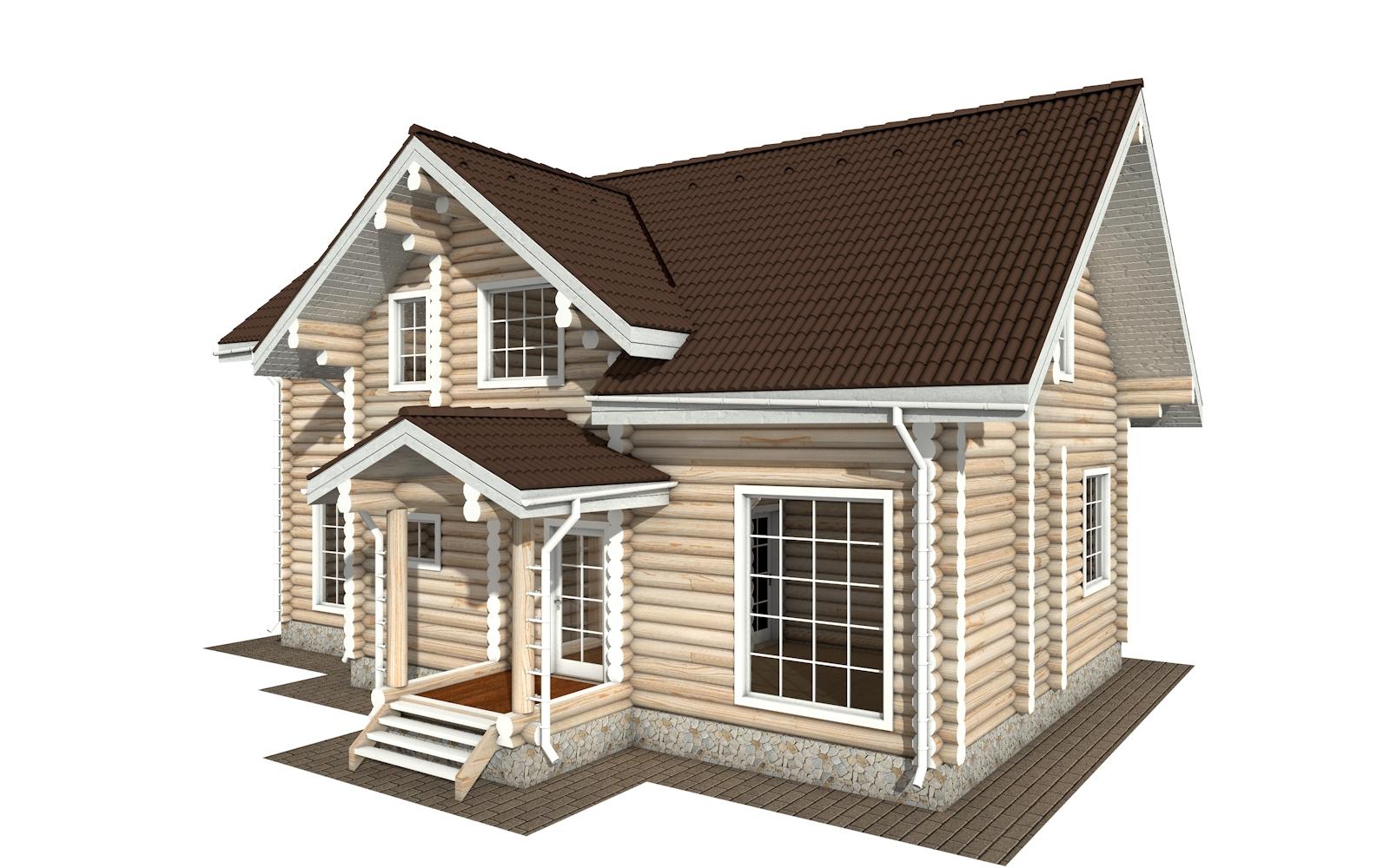 РС-158 - деревянный дома из бревна (из сруба)