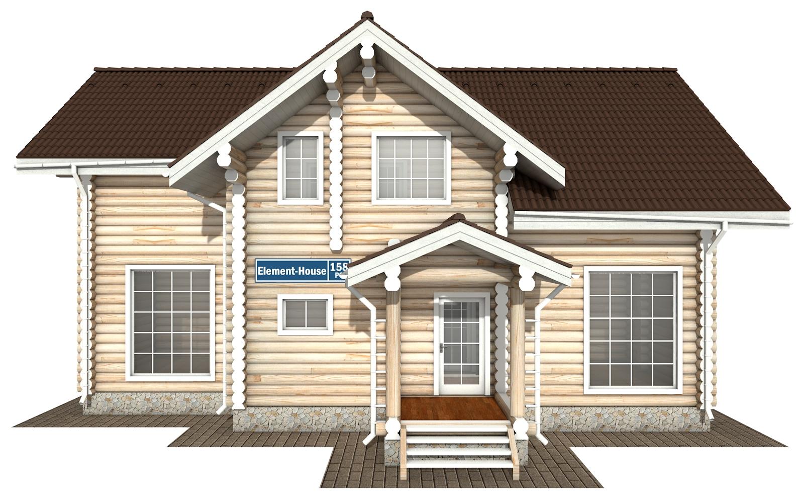 Фото #7: Красивый деревянный дом РС-158 из бревна
