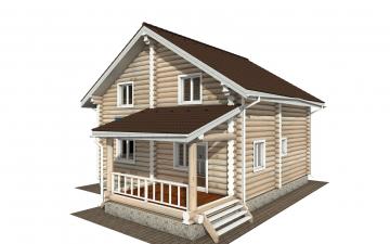 Фото #1: Красивый деревянный дом РС-159 из бревна