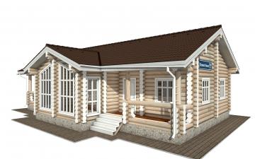 Фото #1: Красивый деревянный дом РС-160 из бревна
