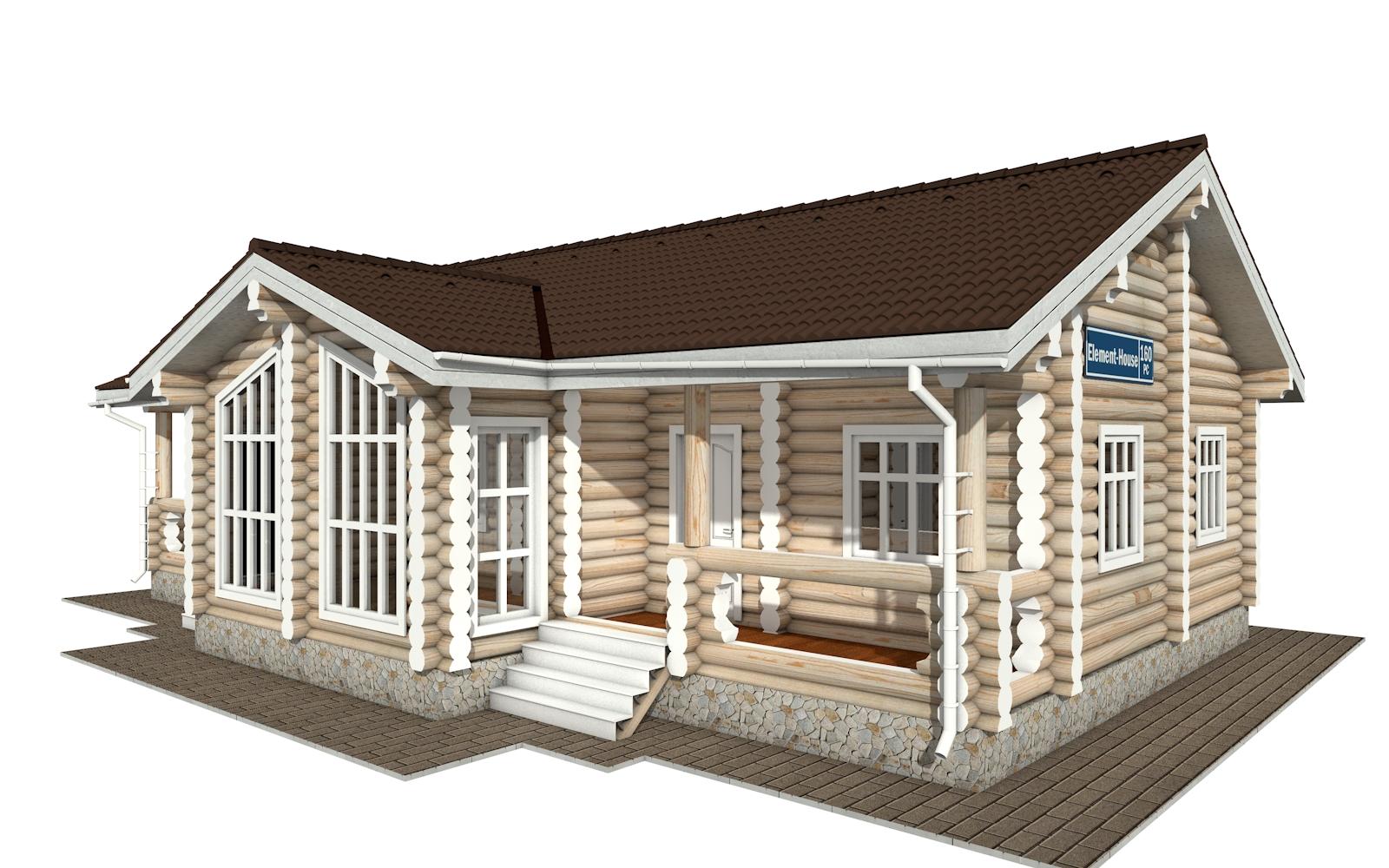 РС-160 - деревянный дома из бревна (из сруба)