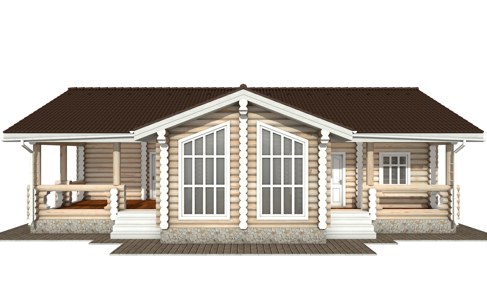Фото #6: Красивый деревянный дом РС-160 из бревна