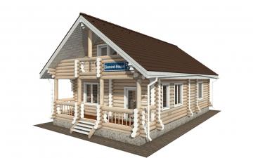 Фото #1: Красивый деревянный дом РС-161 из бревна