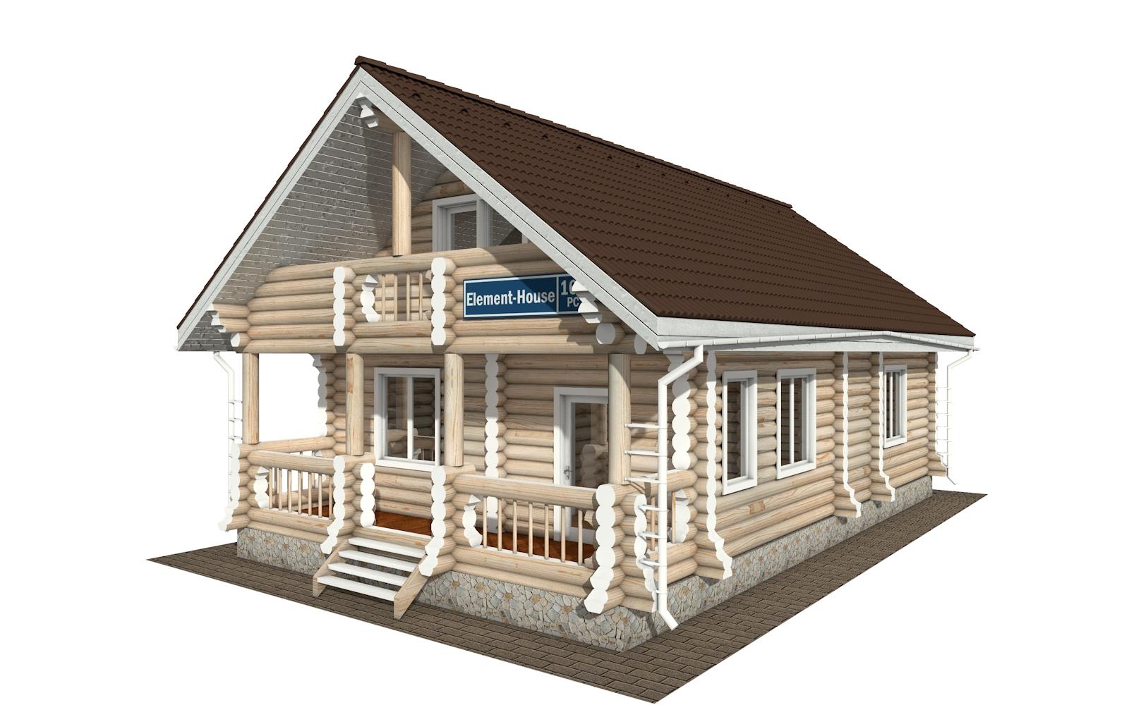 РС-161 - деревянный дома из бревна (из сруба)