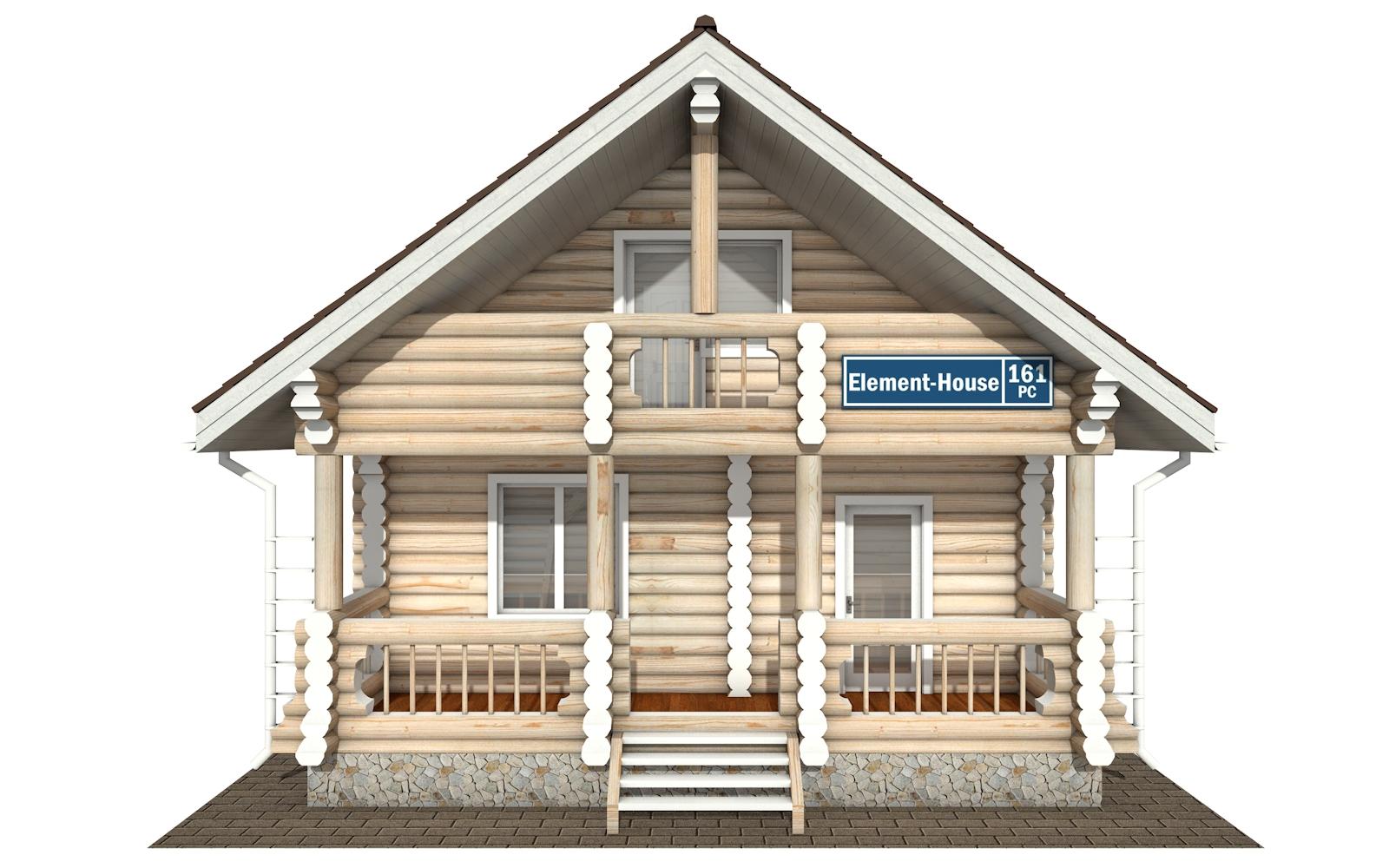 Фото #7: Красивый деревянный дом РС-161 из бревна