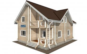 Фото #1: Красивый деревянный дом РС-162 из бревна