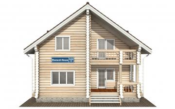 Фото #7: Красивый деревянный дом РС-162 из бревна