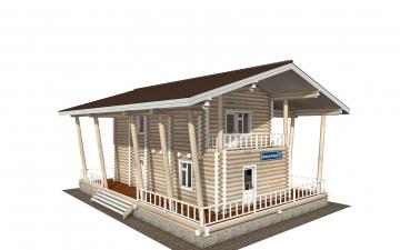 Фото #1: Красивый деревянный дом РС-163 из бревна