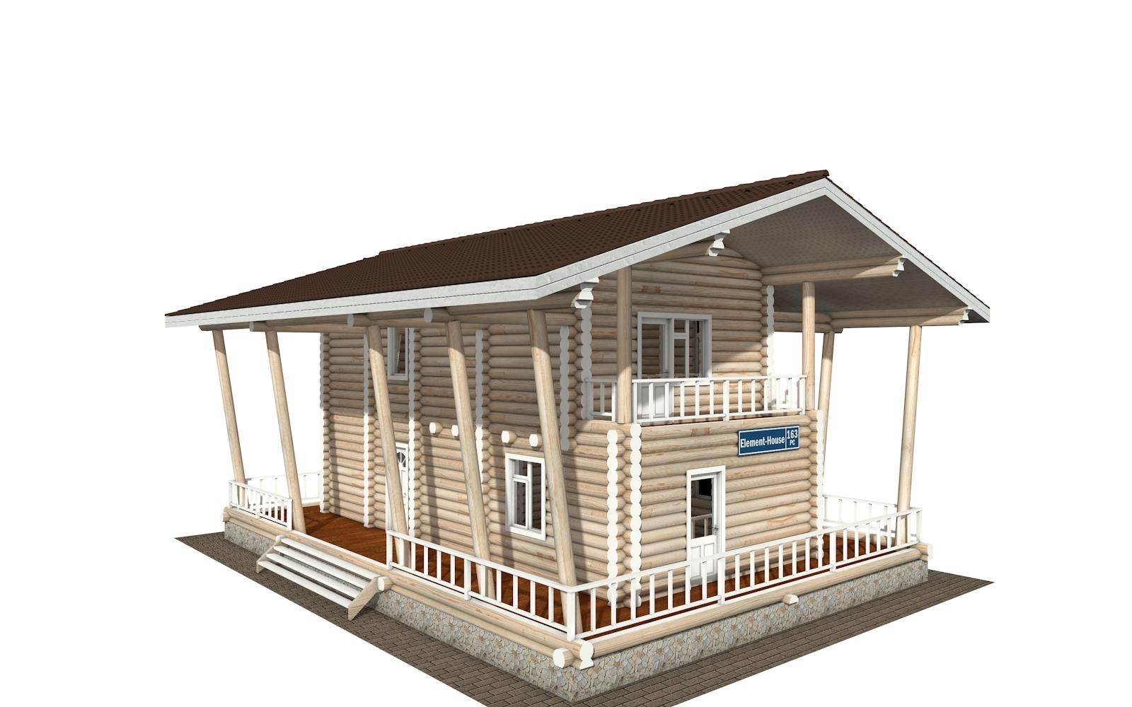 РС-163 - деревянный дома из бревна (из сруба)