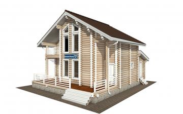 Фото #1: Красивый деревянный дом РС-146 из бревна