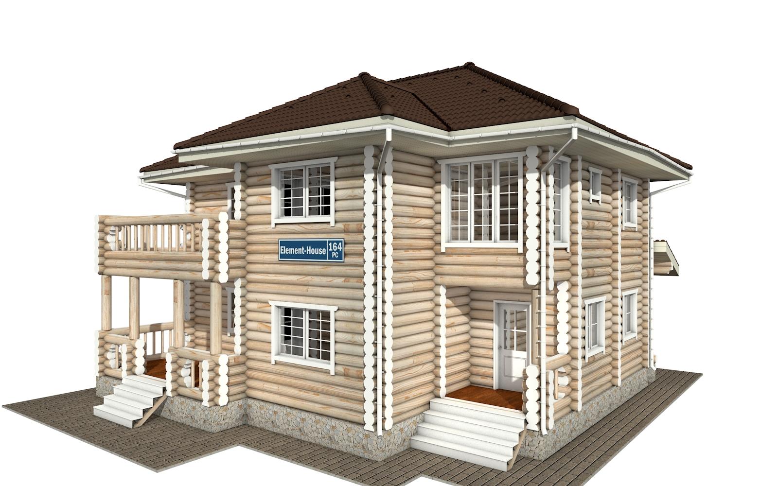 РС-164 - деревянный дома из бревна (из сруба)