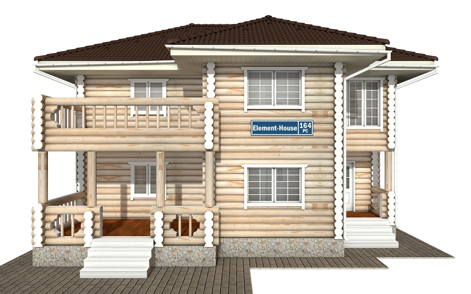 Фото #7: Красивый деревянный дом РС-164 из бревна